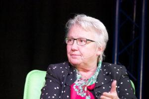 Annette Schavan, deutsche Botschafterin beim Vatikan, in Flüh. (Foto: Zuber)