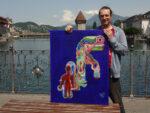 Künstler Daniel Röösli zeigt seine Bilder in der ZwitscherBar, Luzern