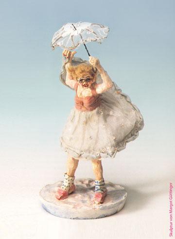 Voller Zuversicht und Freiheit: Eine Skulptur von Margot Güttinger. Quelle: Fama